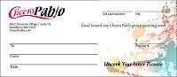 Cheers Pablo Gift Certificates