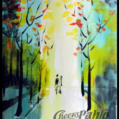 Couple in the Park - Fall