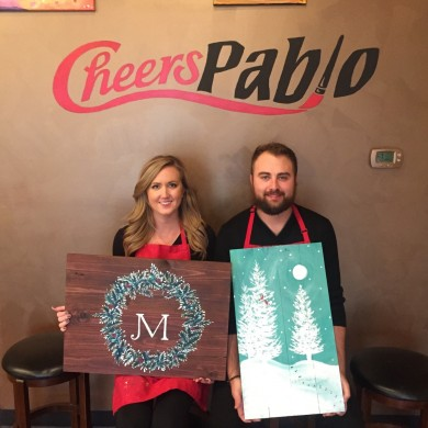 wood panel canvases at Cheers Pablo