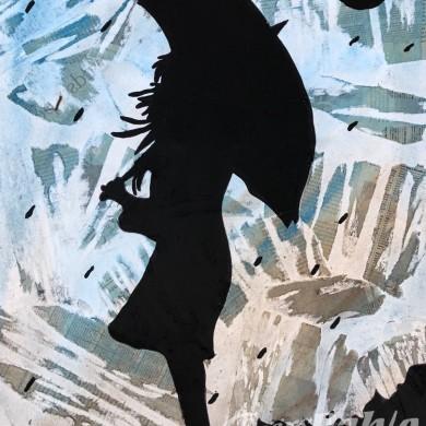 Pablo pop art-girl with umbrella