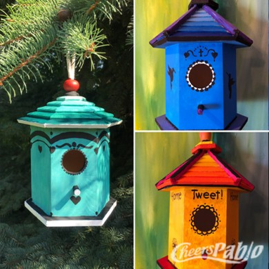 wood bird houses