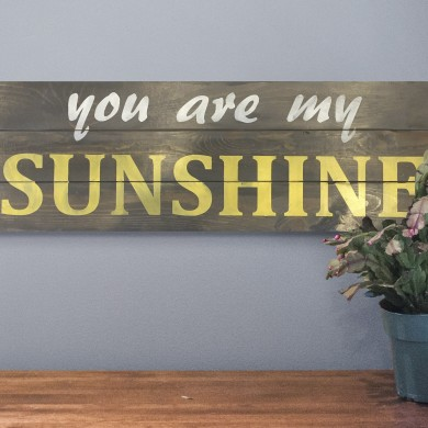 You Are My Sunshine 12x32