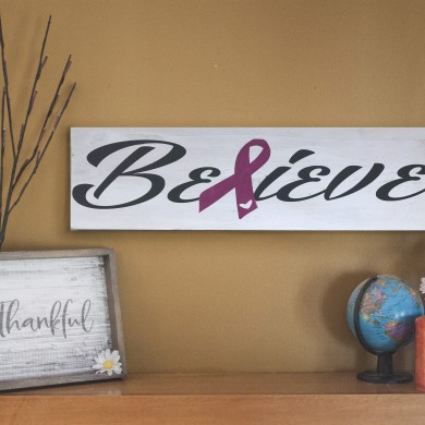 Believe for Breast Cancer 8x24