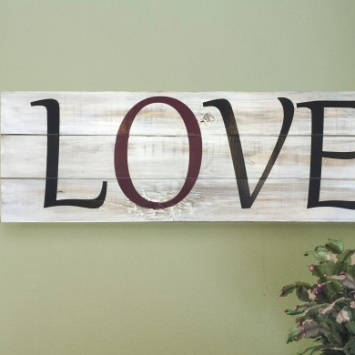 Love Horizontal 8x24