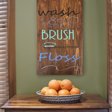 Wash Brush Floss 12x18