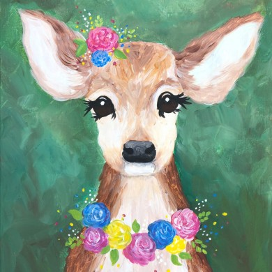 Fawn & Flowers