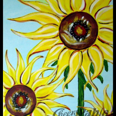 Spiky Sunflowers