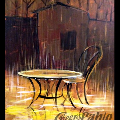 Table in the Rain