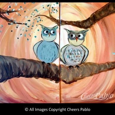 Owl Always Love You: Couples Canvas