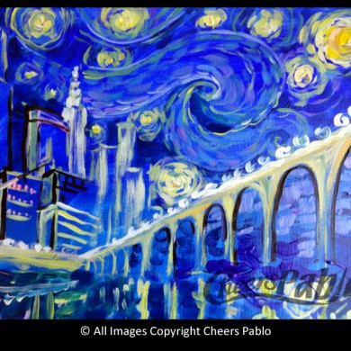 Starry Night Twin City