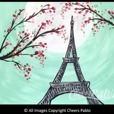 Moonlit Paris