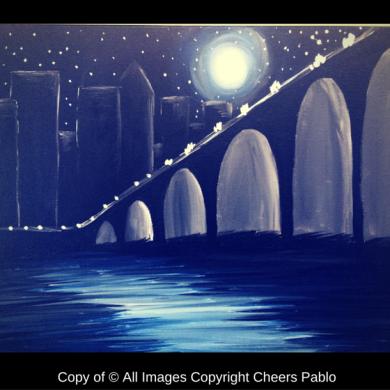 Moonlit Stone Arch