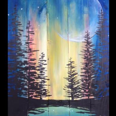 Northern Lights - Wood