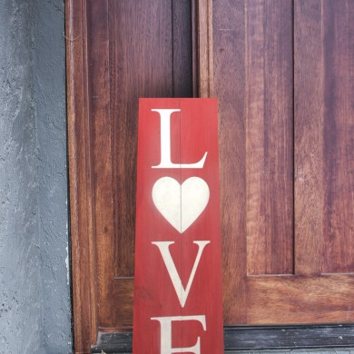 Love, stacked 8x24