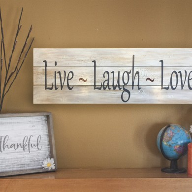 Live, Laugh, Love 12x32