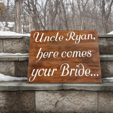 Ring Bearer Sign 18x24