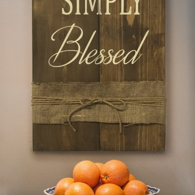 Simply Blessed 16x24